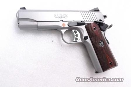 Ruger .45 ACP Model SR1911CMD Combat Commander type 4 1/4 inch Stainless XSE Custom Grade Features Brand New 2 Magazines 45 Automatic SKU 06702   Guns > Pistols > Ruger Semi-Auto Pistols > SR9 & SR40