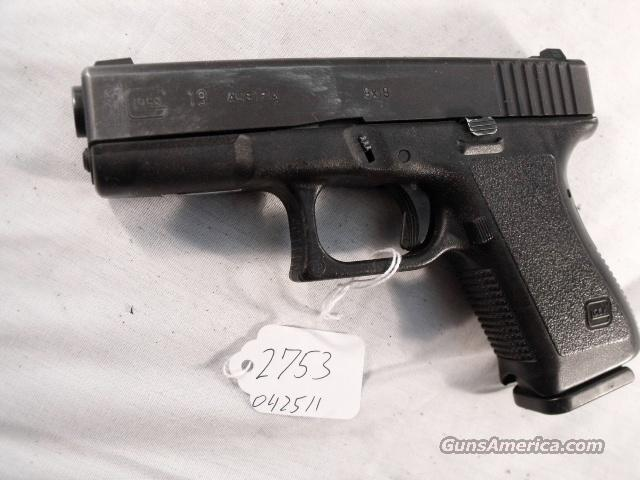 Glock 9mm model 19 Compact VG 16 Shot 2 Magazines Tampa PD 1996 with Factory Night Sights    Guns > Pistols > Glock Pistols > 19