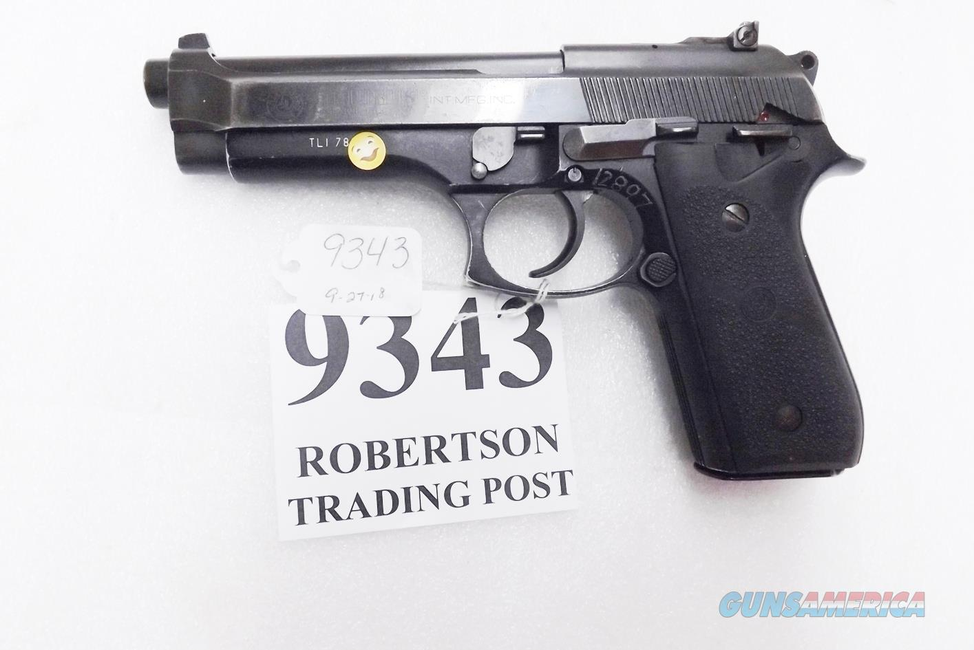Taurus 9mm PT99 AF Blue Adjustable Sights Good Condition Hogue Grips 1993 Caribbean LE 1 Magazine  Guns > Pistols > Taurus Pistols > Semi Auto Pistols > Steel Frame