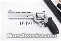 Taurus .44 Magnum model 444 Raging Bull 6 1/2 inch Stainless Ported Full Lug Black Blade Adjustable 44 Mag Special Interchangeably Double Action Revolver 2444069 CA OK  Guns > Pistols > Taurus Pistols/Revolvers > Revolvers
