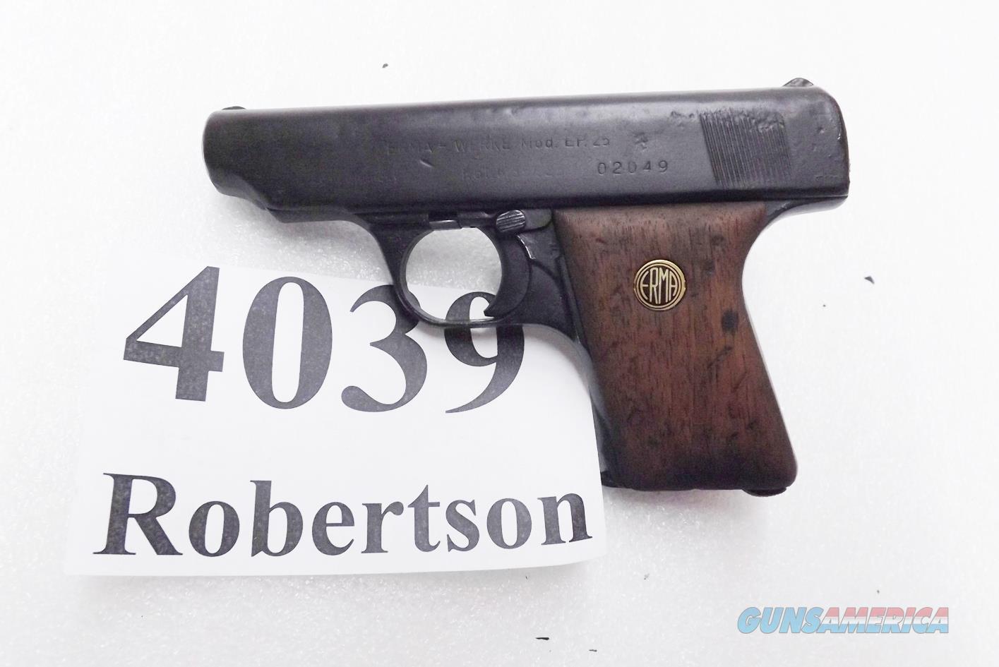 Erma .25 ACP model EP25 Copy of Eva Braun's Ortgies 25 Automatic 1967 Production  Guns > Pistols > Erma/Erma Werke