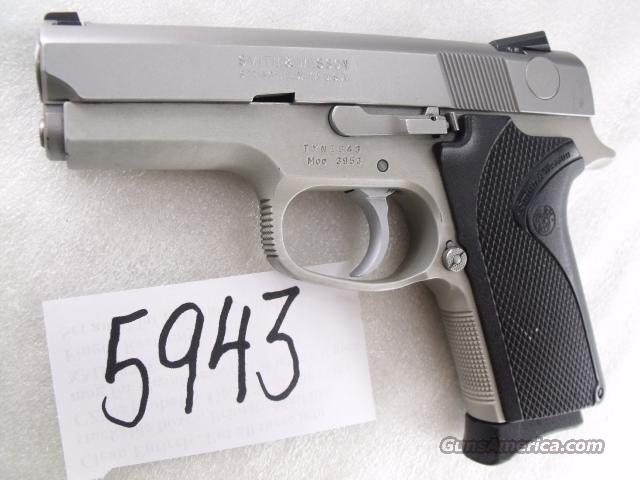 S&W 9mm Compact model 3953 Stainless Double Action Only VG 1 Magazine Prince George's County Maryland Police 1992 Mfg Smith & Wesson  Guns > Pistols > Smith & Wesson Pistols - Autos > Alloy Frame