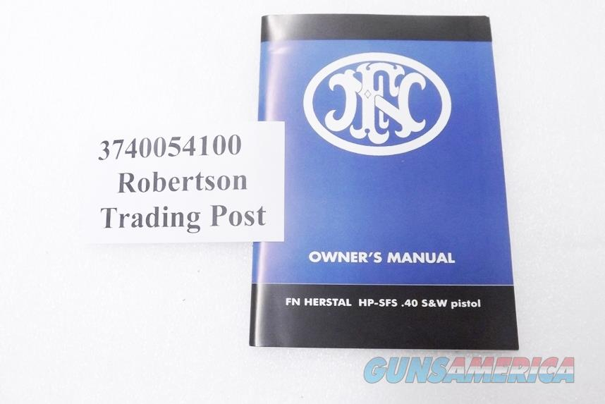 FNH 2002 Instruction Manual Browning 1935 Hi-Power .40 S&W Cal but OK for 9mm 3740054100 New Condition Fabrique Nationale Herstal Belgium Virginia  Non-Guns > Manuals - Print