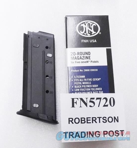 FNH Factory FN57 Five-Seven 20 Round Magazines 5.7 x 28 caliber NIB Fabrique Nationale Herstal 5728 cal  57 5.7mm 3866100030 Buy 3 Ships Free   Non-Guns > Magazines & Clips > Pistol Magazines > Other