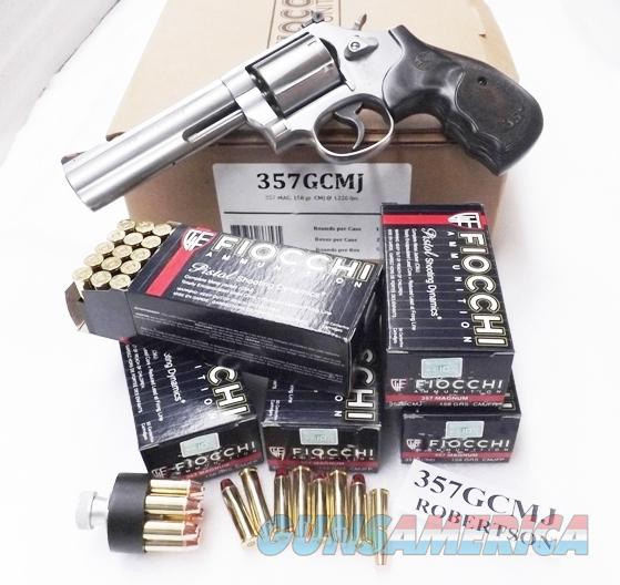 Ammo: .357 Magnum Fiocchi 250 Round Lots of 5 Boxes $14.80 per 50 round box 158 grain Hornady TMJ FMC Total Full Metal Case Jacket 357 Mag Ammunition Cartridges 357GCMJ  Non-Guns > Ammunition
