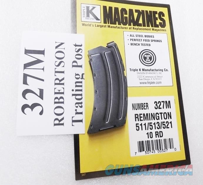 Remington models 511 513 521 Nylon 11 Kimber K22 series .22 LR Triple K 10 round Magazine New Blue Steel 327M Buy 3 Ships Free!   Non-Guns > Magazines & Clips > Rifle Magazines > Other