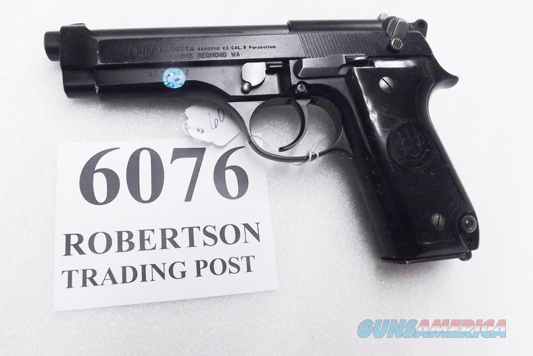 Beretta 9mm model 92S Italian MPs JS92F300M type / ancestor c1978 Good Refin Factory Brunitron Frame & Slide, Oxide Finish Barrel w1 15 round Magazine 7RRO  Guns > Pistols > Beretta Pistols > Model 92 Series