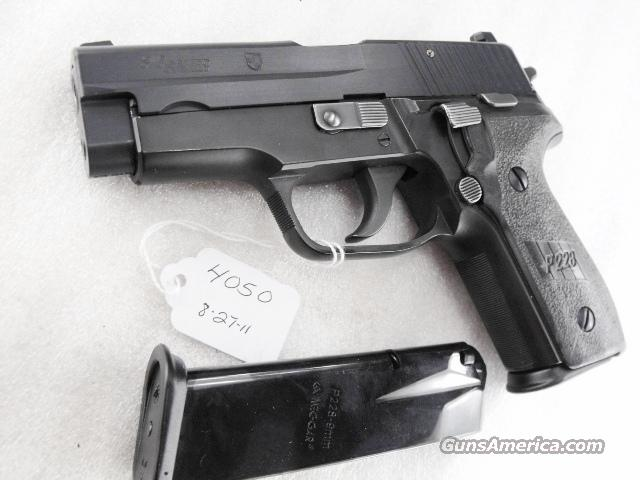 Sig 9mm P228 Black Ice Teflon Finish Swiss Police 16 Shot 2 Magazines 1994 All German Sig Sauer P-228 CA OK  Guns > Pistols > Sig - Sauer/Sigarms Pistols > P228
