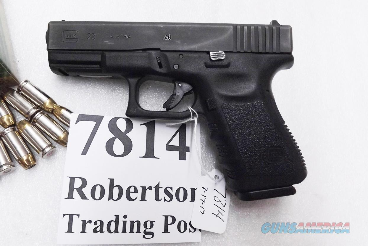 Glock 23 .40 S&W 14 Shot 1999 production Very Good 1 Magazine U Dot Sights PI2350203    Guns > Pistols > Glock Pistols > 23