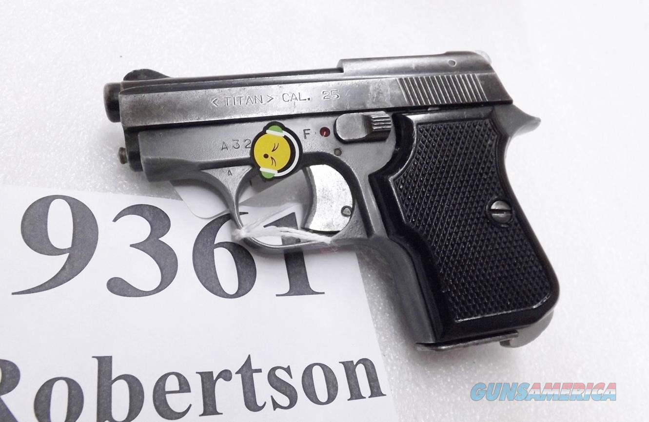 FIE .25 ACP Titan 25 Automatic E27B Blue 1968 3rd Year of Production VG 7 Shot C&R CA OK No Go to Melt Law States  Guns > Pistols > EAA Pistols > Other