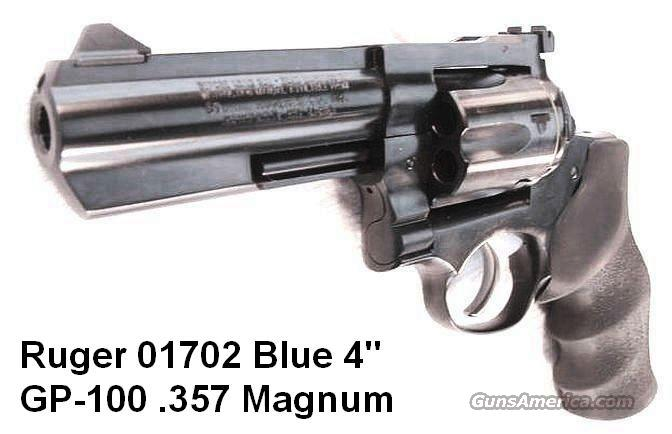 Ruger .357 Magnum GP-100 Blue 4 inch Full Lug Heavy Barrel NIB GP100 GP141 357 Mag 38 Special Interchangeably  Guns > Pistols > Ruger Double Action Revolver > SP101 Type