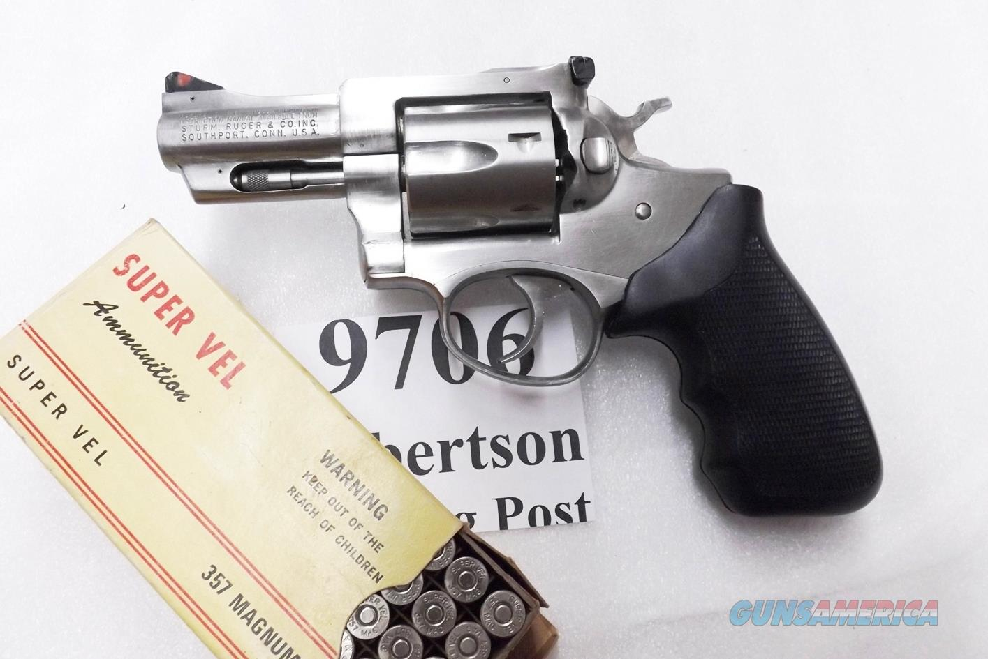 Ruger .357 Magnum Security Six KGA32 Stainless 2 3/4 inch Caribbean Security Retouched Finish 1981  Guns > Pistols > Ruger Double Action Revolver > Security Six Type