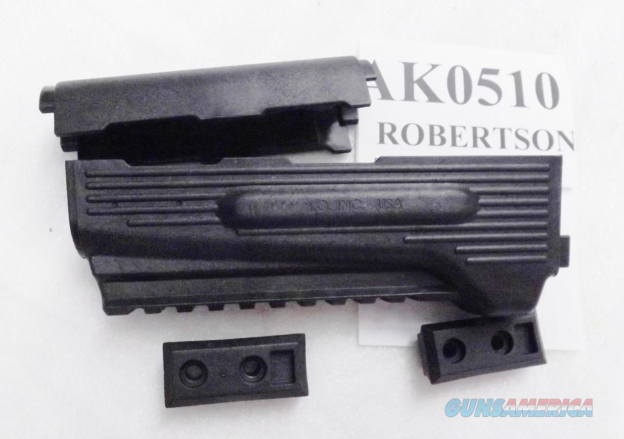 AK47 Tactical Forend with Gas Guard Lateral Light Mounts 10 Slot Picatinny Rail Inter Ordnance IOC Black Polymer US Made $3 Ship 3 ship free  Non-Guns > Gunstocks, Grips & Wood