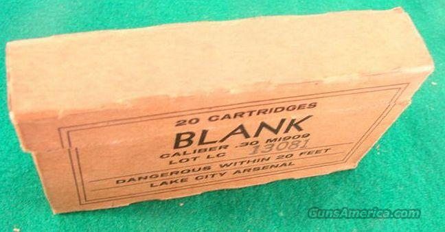 Ammo: .30-06 Lake City Blank 1950s US Mixed Blanks  Non-Guns > Collectible Cartridges
