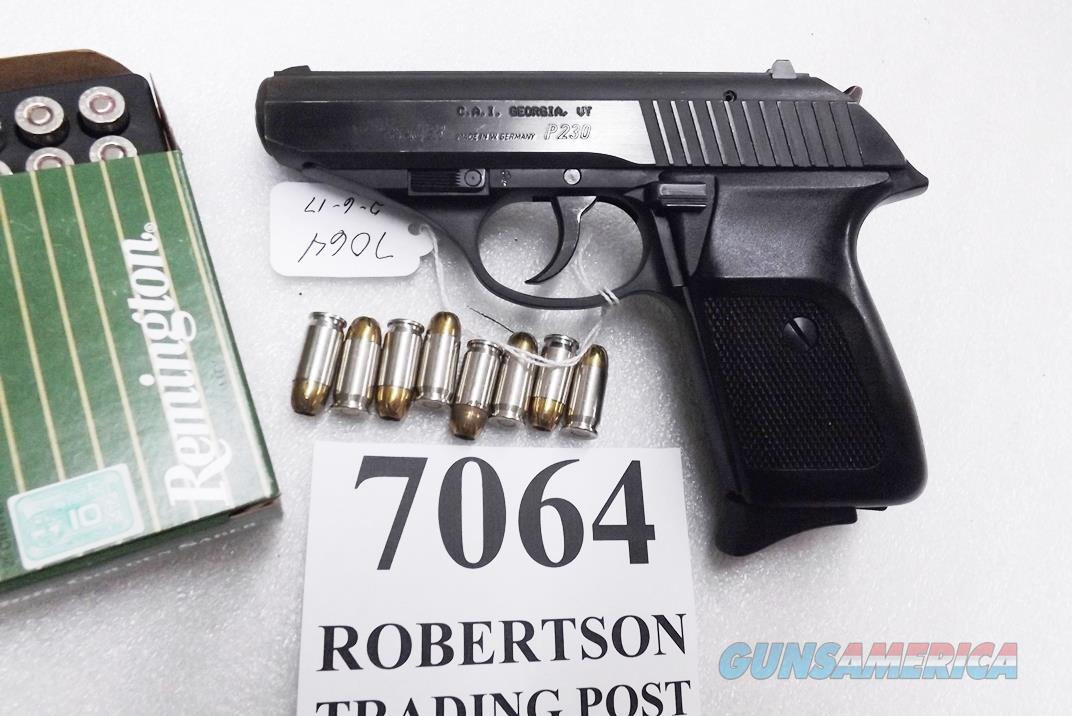 Sig Sauer .380 ACP P230 Blue 8 Shot 1988 German VG-Exc  8 Shot 1 Magazine Israeli Issue Century Import Marked 230380B   Guns > Pistols > Sig - Sauer/Sigarms Pistols > P230