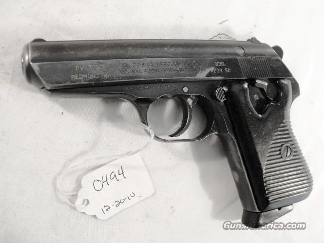 CZ-50 .32 Strakonice ca 1970 CZ50 VZ50 VZ-50 Vzor 50 7.65 Automatic 32 ACP C&R Eligible CA OK Ostrava Czech Republic Municipal Police  Guns > Pistols > CZ (Ceska ZBrojovka) Pistols