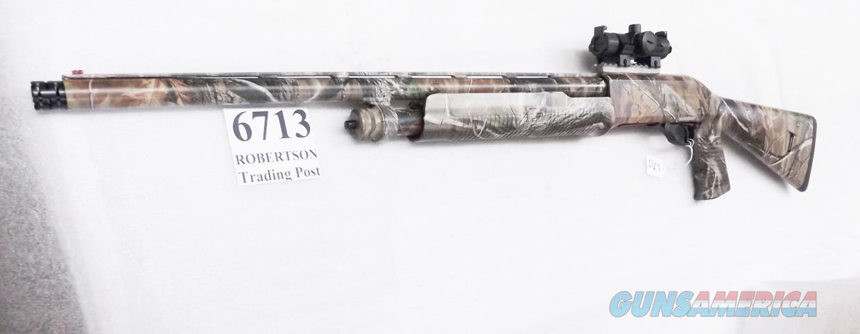 Charles Daly 12 gauge Model 335 National Wild Turkey Federation 3 1/2 inch Super Mag  Pump 24 inch Ported Barrel Pistol Grip Stock Red Green Dot Sight Picatinny & Rings, .668 XXF Super Full Rem-Choke Excellent in Box Possibly Unfired  Guns > Shotguns > AKKAR