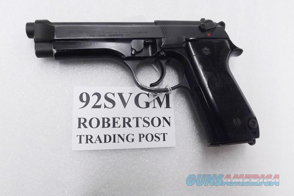 Beretta 9mm model 92S Italian Military Police VG JS92F300M type / ancestor c1978 w1 15 round Magazine Factory Gloss Anodized Frame, Oxide Finish Slide & Barrel VGM  Guns > Pistols > Beretta Pistols > Model 92 Series