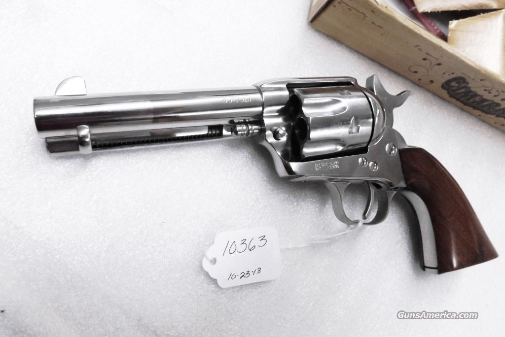 Colt Single Action Army Pre-War P type Uberti Cimarron .45 Colt 4 3/4 inch Nickel & Walnut Excellent in Box mfg 2006  Guns > Pistols > Uberti Pistols > Ctg.