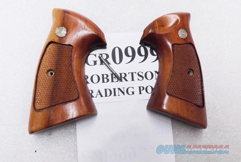 Smith & Wesson Factory N Frame Square Butt Walnut Target Stocks NO Speedloader cut 1970s Unfired Unissued 21 24 25 27 28 29 Family  Non-Guns > Gun Parts > Grips > Smith & Wesson