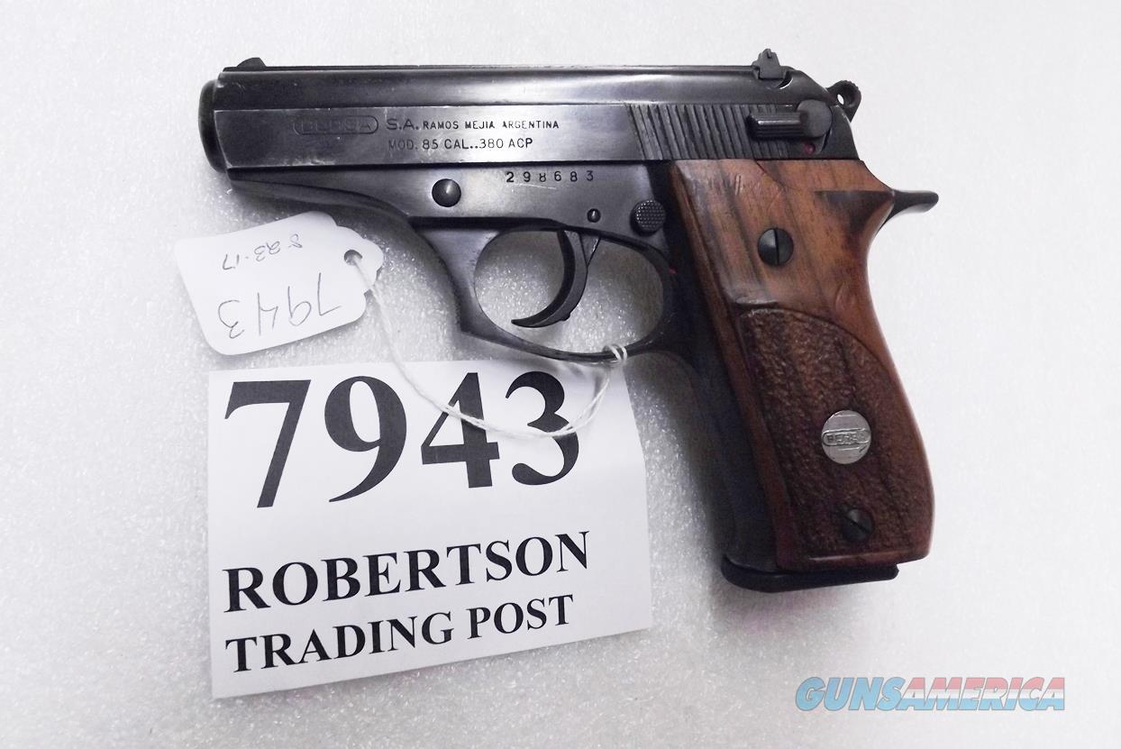 Bersa .380 ACP model 85 Blue Wood 14 Shot Beretta 84 type Double Action 1993 Production No Lock Israeli  Guns > Pistols > Bersa Pistols