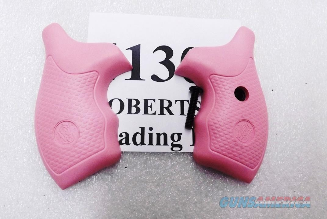Smith & Wesson Factory Grips J Frame Round Butt Revolvers 36 60 640 642 37 New Takeout Pink Rubber Finger Groove 41308  Non-Guns > Gunstocks, Grips & Wood