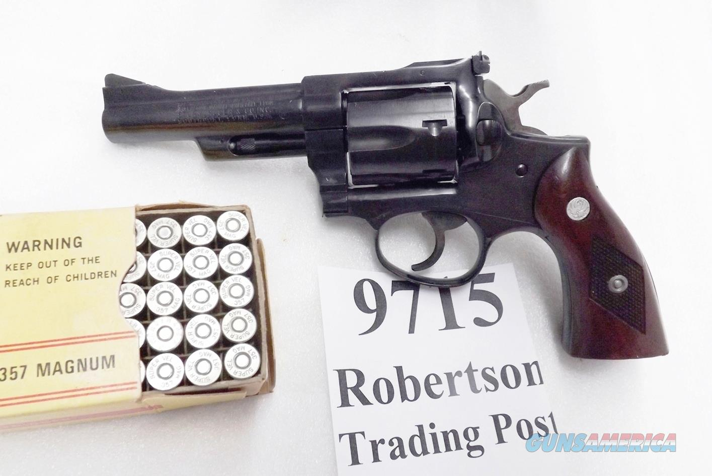 Ruger .357 Magnum Security Six RDA34 Blue 4 inch 1978 production VG Cond. GA34 GP100 Ancestor  Guns > Pistols > Ruger Double Action Revolver > Security Six Type