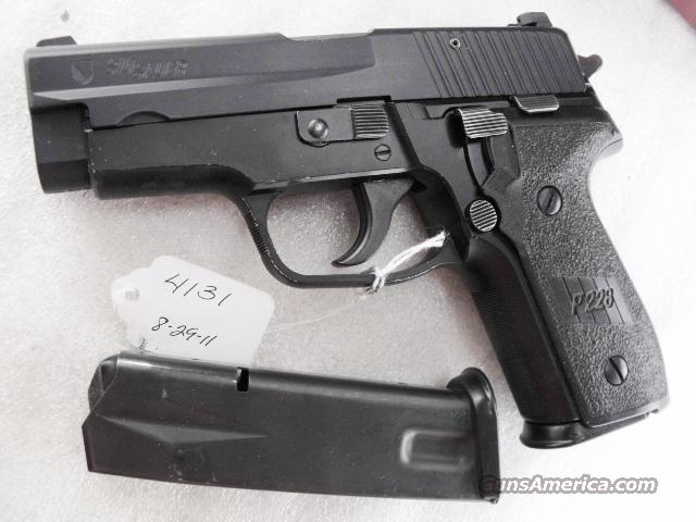 Sig 9mm P228 Black Ice Teflon Slide Swiss Police 14 Shot 2 Pre-Ban Magazines 1989 All German Original Box First Year of Production Sig Sauer P-228 CA OK  Guns > Pistols > Sig - Sauer/Sigarms Pistols > P228