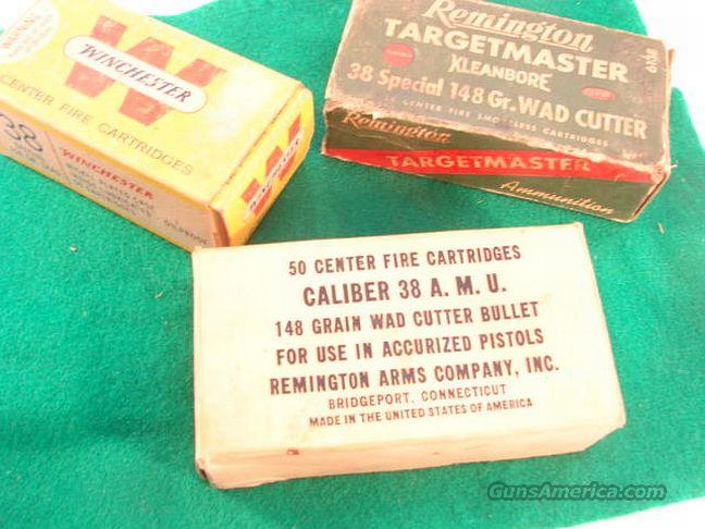 Ammo: .38 Spl 1960s Buford Pusser Colleague Vintage Box Reloads  Lot of 3 Boxes 150 rounds 38 Special  Non-Guns > Collectible Cartridges