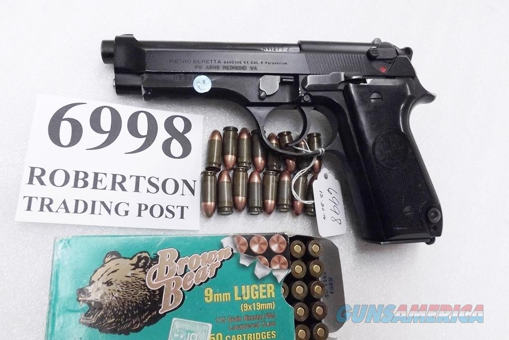 Beretta 9mm model 92S Italian MPs JS92F300M type / ancestor c1978 VG  Factory Brunitron Frame & Slide, Blue Barrel, w1 15 round Magazine VRRB  Guns > Pistols > Beretta Pistols > Model 92 Series