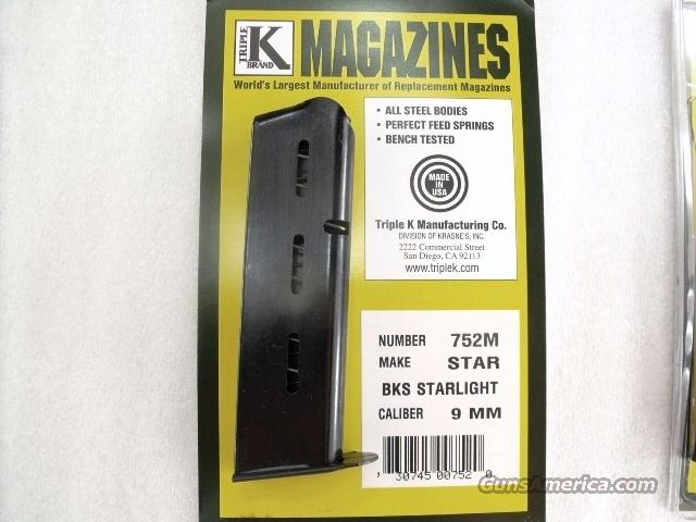 Star model BKS 9mm Triple K 8 Shot Blue Steel Magazines NIB BKS only no B no BM no BKM no BS 752M Buy Three Ships Free!  Non-Guns > Magazines & Clips > Pistol Magazines > Other