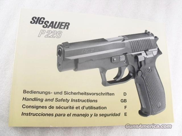 sig sauer factory manual p226 swiss police sasi for sale rh gunsamerica com Handgun Manuals for Handguns Easy Handgun Manuals for Handguns Easy