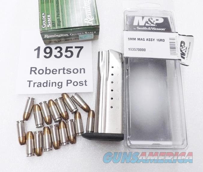 Smith & Wesson SW9 SW9V SW9VE 9mm Factory 16 Shot / Round Magazine Stainless New 19357 S&W   Non-Guns > Magazines & Clips > Pistol Magazines > Smith & Wesson