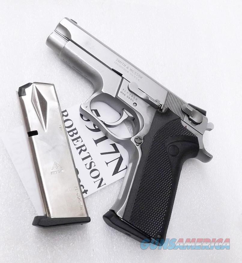 Smith & Wesson 59 5906 5900 17 Round Magazine Mec-Gar NIB Nickel MGSW5917N S&W 59 5900 Series Mec Gar 17 Shot Nickel fits Daewoo models 469 669 6904 6906 5903 5904 910 5906 5946 5986 New$ 3 Ship, 3 ship  Free  Non-Guns > Magazines & Clips > Pistol Magazines > Smith & Wesson