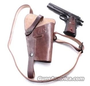 GI style Shoulder Holster 45 Autos 1911 Pistols New India Brown Leather WWI WWII type GL0108 Colt Government Model 45 Automatic Short Chest Strap variant  Non-Guns > Holsters and Gunleather > Large Frame Auto