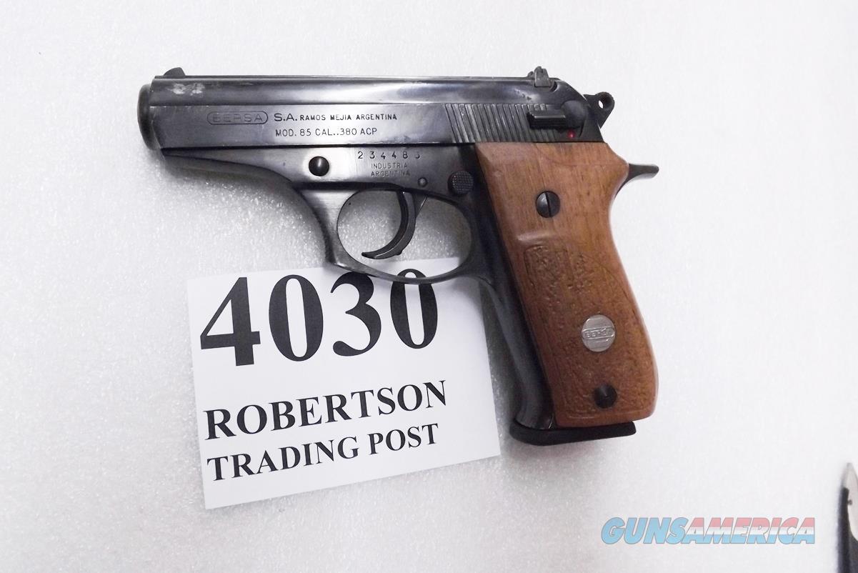 Bersa .380 ACP model 85 Blue Wood 13 Shot Beretta 84 type Double Action 1988 Production No Lock CMI  Guns > Pistols > Bersa Pistols
