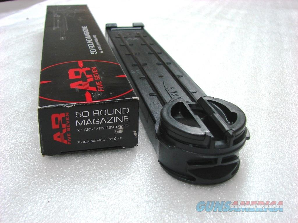 FN P90 PS90 AR57 Factory 50 Shot Fifty Round Magazines 5.7x28 NIB  AR5750 AR5750M2 FN 3810110093 type   Non-Guns > Magazines & Clips > Rifle Magazines > Other