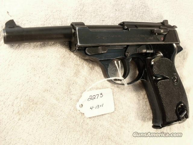 Walther 9mm P-38 Parkerized Lightweight VG-Exc 1963 Federal German Police Bundespolizei P1 P38  Guns > Pistols > Walther Pistols > Post WWII > P38