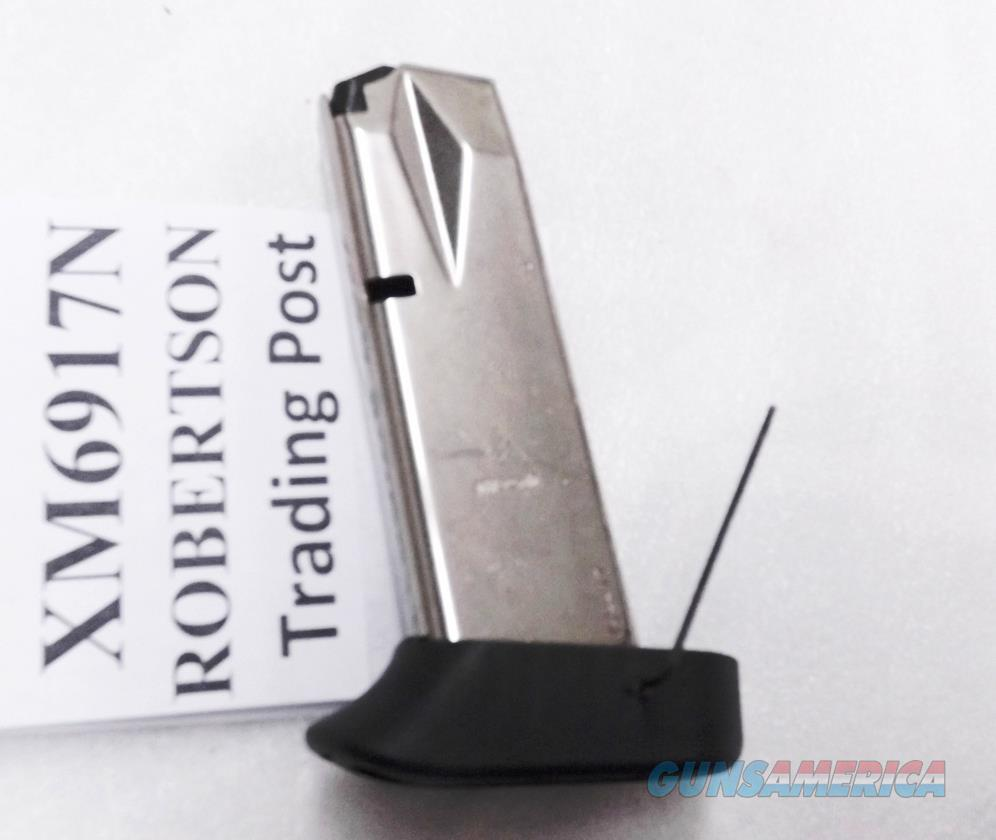 Smith & Wesson 6900 series Extended 17 round Magazine Mec-Gar Nickel with Finger Rest fits models 469, 669, 6904, 6906, 6924, 6926, and 6976  Non-Guns > Magazines & Clips > Pistol Magazines > Smith & Wesson