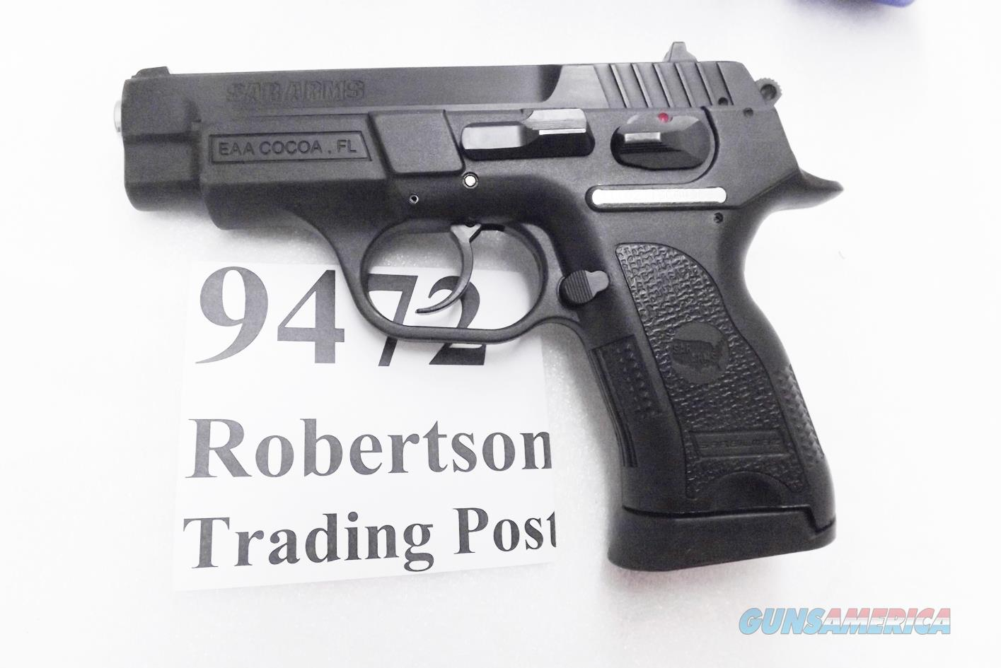 CZ75 P01 Clone SAR Arms EAA 9mm model SARB6P9 Compact 3 Dot Sights 14 shot 1 Magazine Commander Hammer 3 1/2 inch K2 K-2 CZ Mag Compatible 400424 Compatible with CZ75 and Baby Eagle Magazines   Guns > Pistols > EAA Pistols > Other