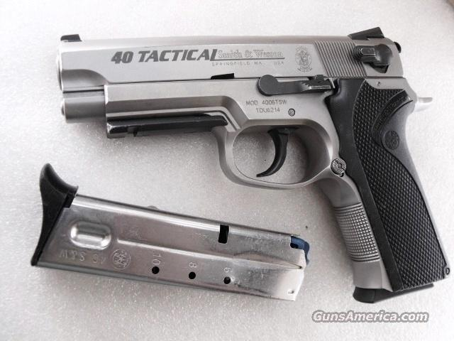 S&W .40 Tactical 4006TSW Rail 2 Magazines mfg 2001 Watsonville CA PD  Guns > Pistols > Smith & Wesson Pistols - Autos > Steel Frame