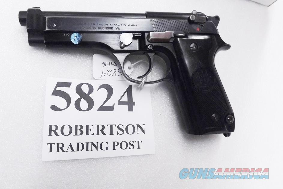Beretta 9mm model 92S Italy Military Police Italian Carabinieri VG+ JS92F300M type / ancestor c1978 w1 15 round Magazine Factory Gloss Anodized Frame, Blue Barrel & Slide +GB  Guns > Pistols > Beretta Pistols > Model 92 Series