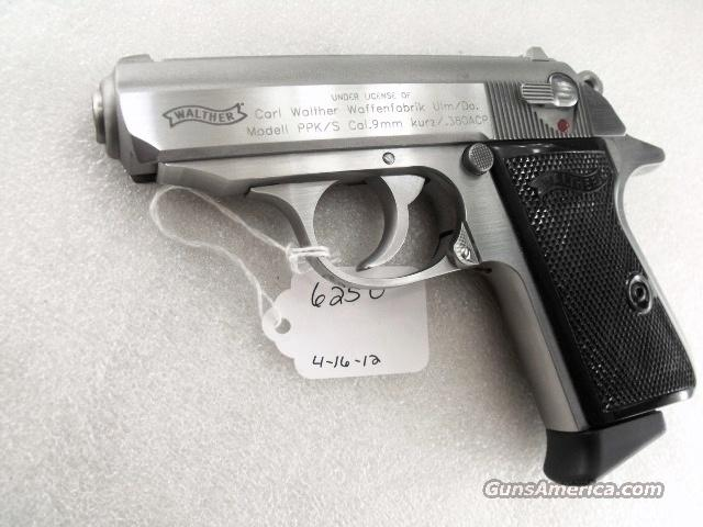 Walther .380 PPK/S-1 Stainless PPKS 380 Automatic Near Mint in Box ACP Smith & Wesson mfg.  Guns > Pistols > Walther Pistols > Post WWII > PPK Series