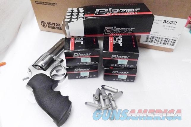 Ammo: .38 Special CCI Blazer 158 grain Lead Round Nose LRN 38 Spl Ammunition Cartridges non +P 3522 Alloy Case   Non-Guns > Ammunition