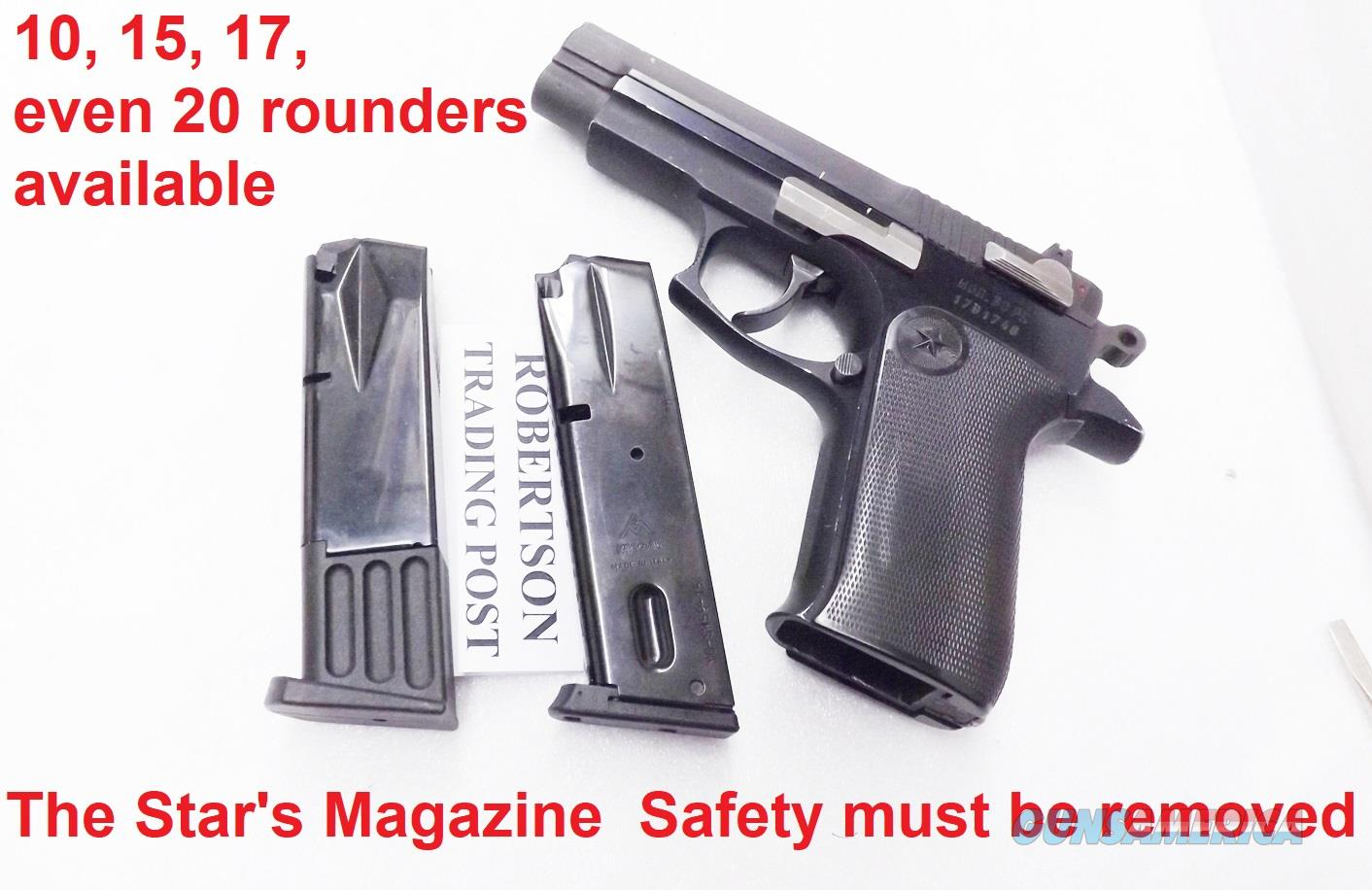 Mec-Gar 10 or 15 Round Magazines Fitted for Star models 28 30 & 31 Pistols Required Removal of Magazine Safety  Non-Guns > Magazines & Clips > Pistol Magazines > Other