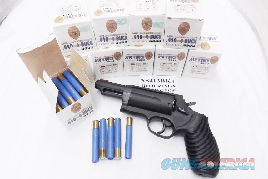 Ammo: .410 gauge 3 inch Magnum OOO+ .40 Buckshot Taurus Judge OK 950 fps 250 round 10 Box Case at $12.90 per Box  Nobel Sport Italy NS413BK4  Non-Guns > Ammunition