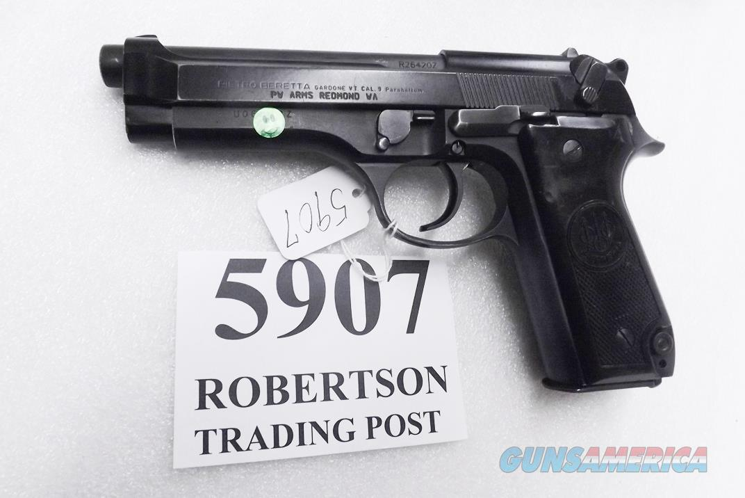 Beretta 9mm model 92S Italian MPs JS92F300M type / ancestor c1978 VG  Factory Brunitron Frame & Chrome Lined Barrel, w1 15 round Magazine VRROC  Guns > Pistols > Beretta Pistols > Model 92 Series