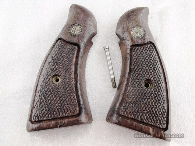 Grips S&W K or L Frame Square Butt Factory Magna Walnut Condition 1970s   Non-Guns > Gunstocks, Grips & Wood
