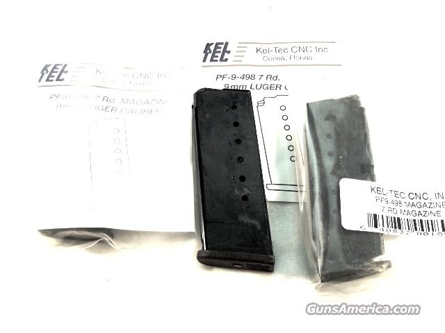 Kel-Tec PF9 Factory 7 Shot 9mm Magazines Blue Steel New Keltec Teck Tech PF9498   Non-Guns > Magazines & Clips > Pistol Magazines > Other