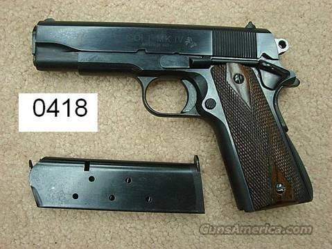 Colt Commander .45 ACP Blue & Wood, Excellent Condition Mfg. ca. 1984  Guns > Pistols > Colt Automatic Pistols (1911 & Var)